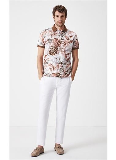 Boris Becker Slim Fit Baskılı Polo Yaka T-shirt Kahve